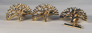Oak tree cuff link set