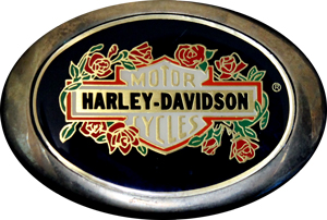 Harley-Davidson solid brass buckle 1983 used