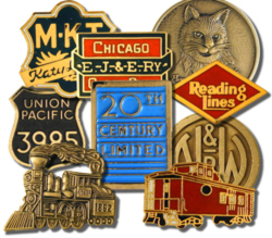 Railroad Hat Pins